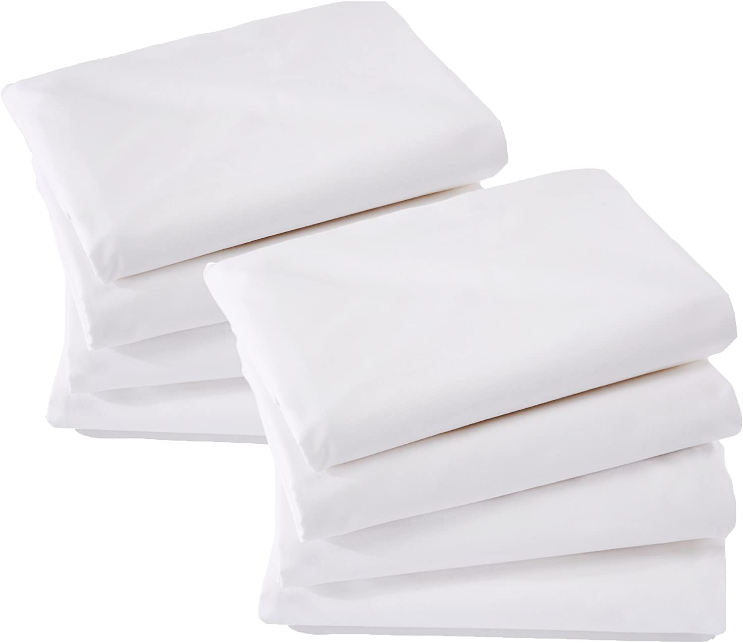ALLERelief 8 Pack Zippered Pillow Protectors | Hypoallergenic | Premium Fibers 100% Brushed Microfiber | Anti-Microbial Construction | Noise-Free Pillow Covers |King Size