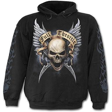 Spiral Espiral - Hombres - Shut Up And Ride - Sudadera con capucha negro negro negro S: Amazon.es: Ropa y accesorios