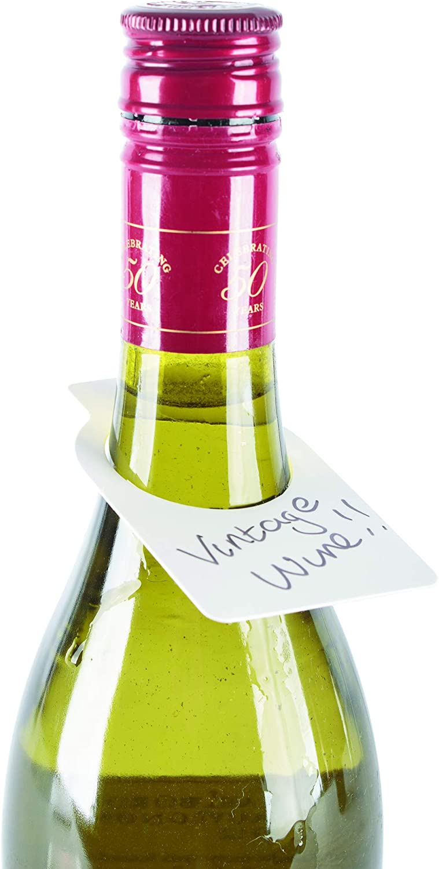 Double Couleur Bouteille Vin étiquettes pour vin racks et caves Pack de 100