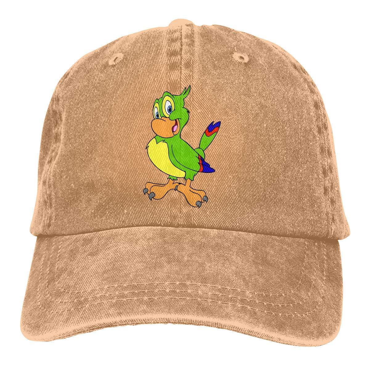 Unisex Cartoon Cockatiel Vintage Washed Dad Hat Fashion Adjustable Baseball Cap