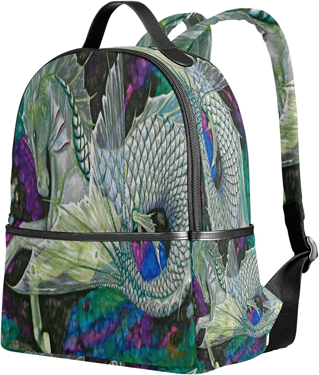 Mr.Weng Watercolor Horse Printed Canvas Backpack For Girl and Children
