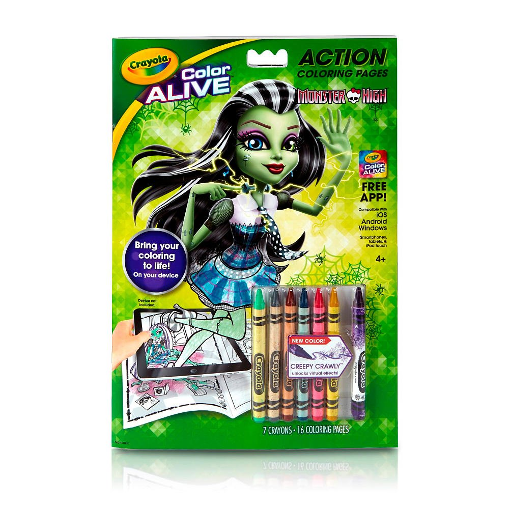 amazon com crayola color alive monster high pack of 2 toys games