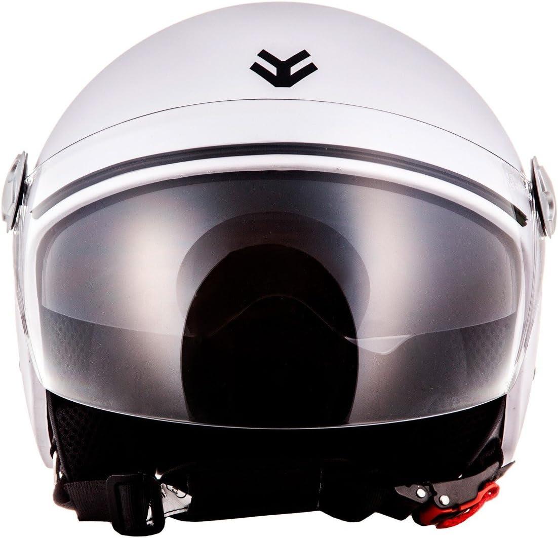 XL 61-62cm Italy Nero ARMOR Helmets AV-63 Casco Demi Jet ECE certificato