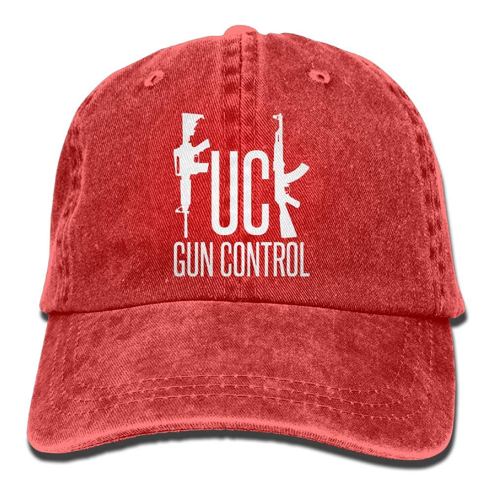 Amazon.com  Madoling Fuck Gun Control AR15 and AK47 2nd Amendment Trucker s Cap  Baseball Cap Denim Dad Hat  Clothing c3144eaebabd