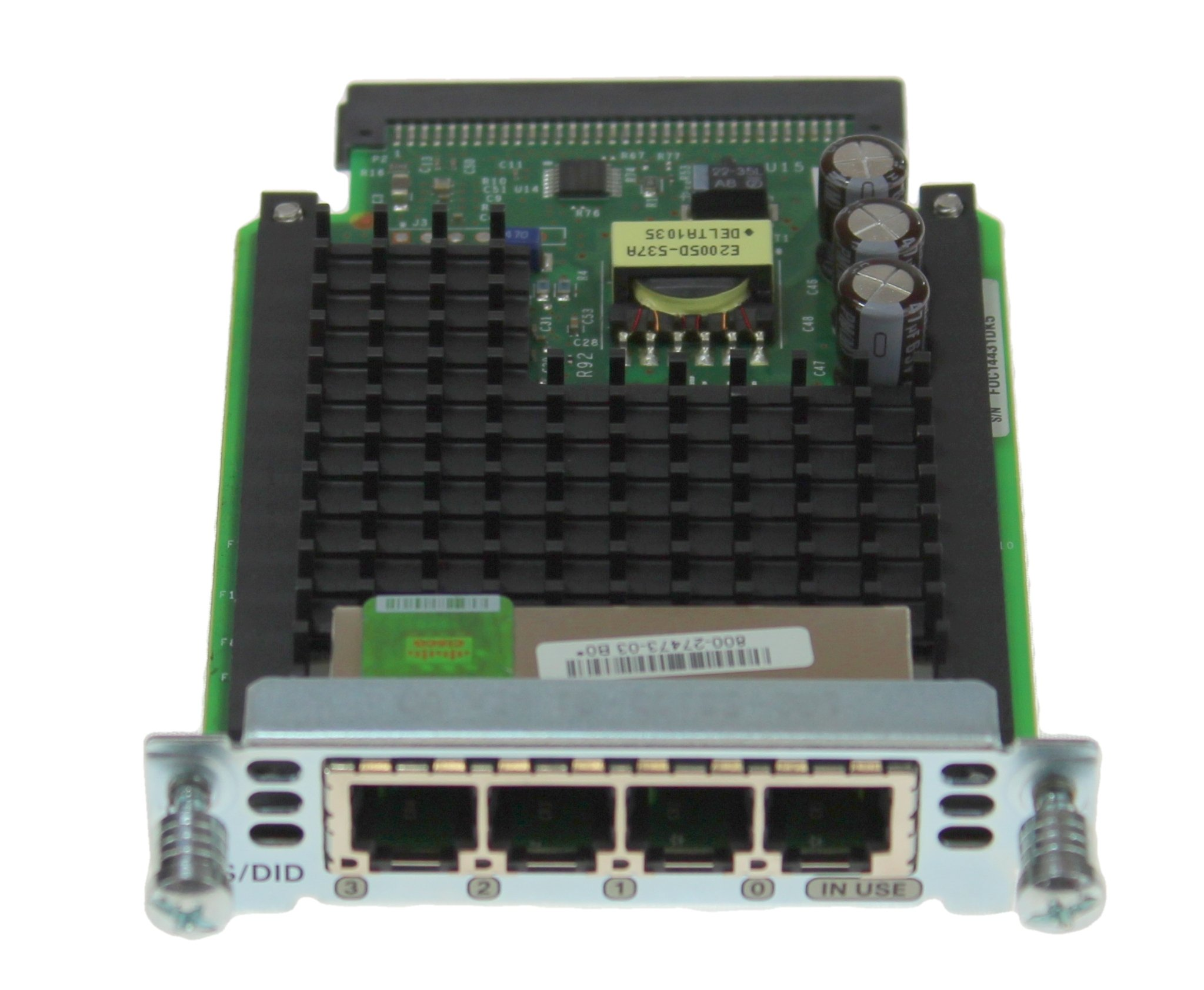 CISCO VIC3-4FXS/DID Four-Port Voice Interface Card - FXS and DID