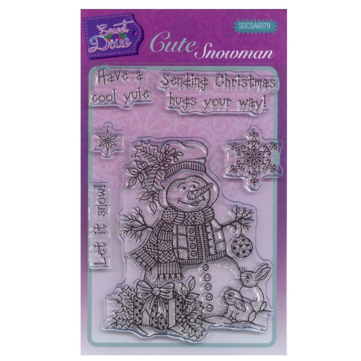 15 x 10.5 x 0.3 cm A6 Transparente Sweet Dixie Dragonfly with Love Juego de Sellos Transparente