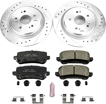 Power Stop K7284 Front /& Rear Z23 Evolution/Sport Brake Upgrade Kit