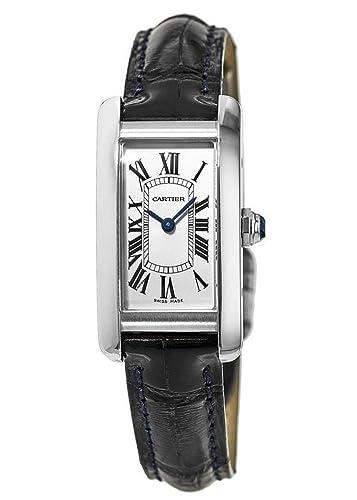 Cartier Tank Americaine WSTA0016 - Reloj de Pulsera para Mujer, Acero Inoxidable, Color Azul: Amazon.es: Relojes