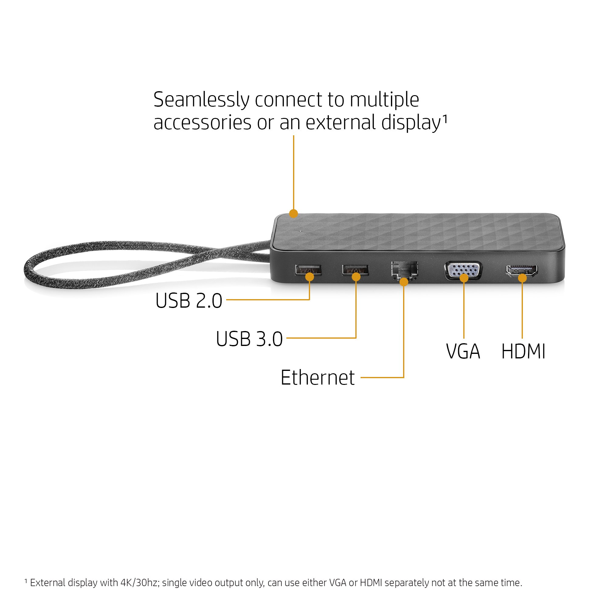 HP Spectre Travel Dock for HP USB-C Charging Laptops (with VGA, HDMI, Ethernet, and multiple USB ports) by HP (Image #2)