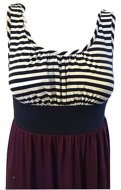 91f025da9544 Mossimo Supply Co Women's Striped Sleveless Maxi Dress at Amazon Women's  Clothing store: