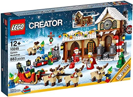 NEW LEGO SANTA/'S WORKSHOP SIGN christmas village holiday minifig 10245 claus