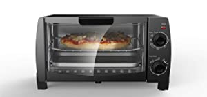 Mainstay MG10BFK-B 4-Slice Toaster Oven, Black