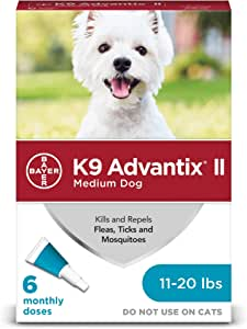 K9 Advantix II Flea, Tick & Mosquito Prevention for Medium Dogs, 11-20 lbs