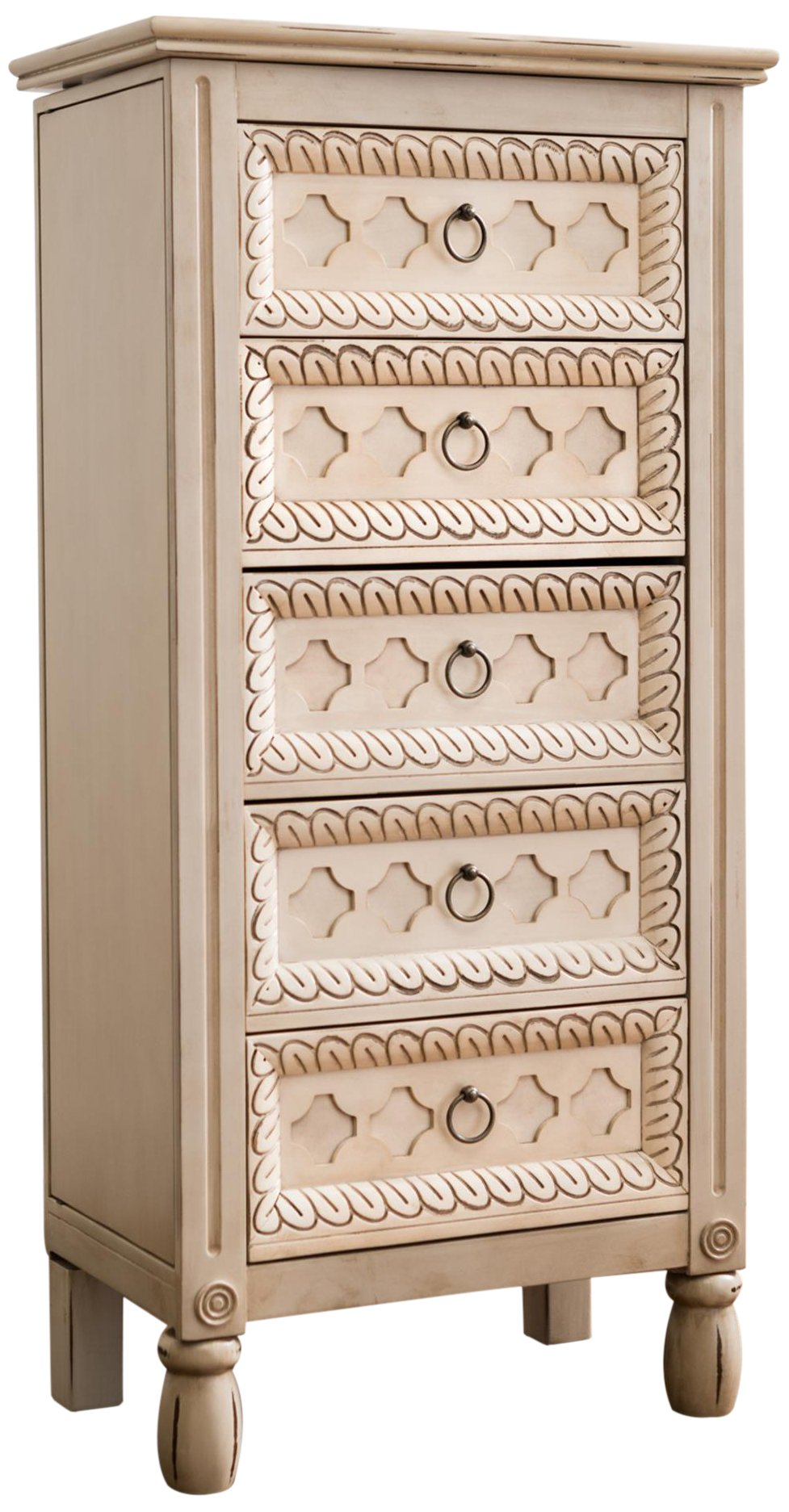 Hives and Honey ''Abby'' Jewelry Armoire, Antique Ivory