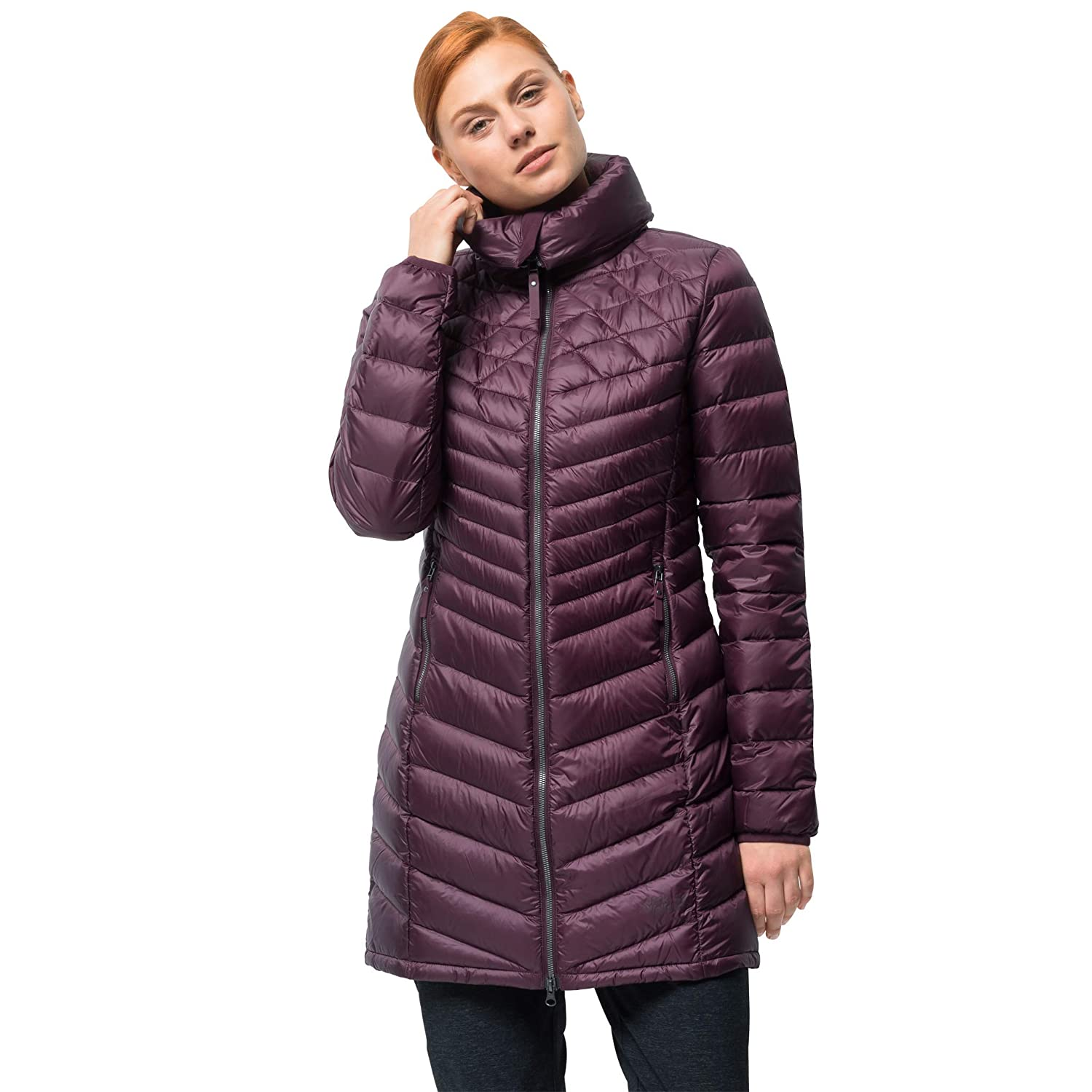 Burgundy Jack Wolfskin Women's Richmond Down Puffer Long Jacket