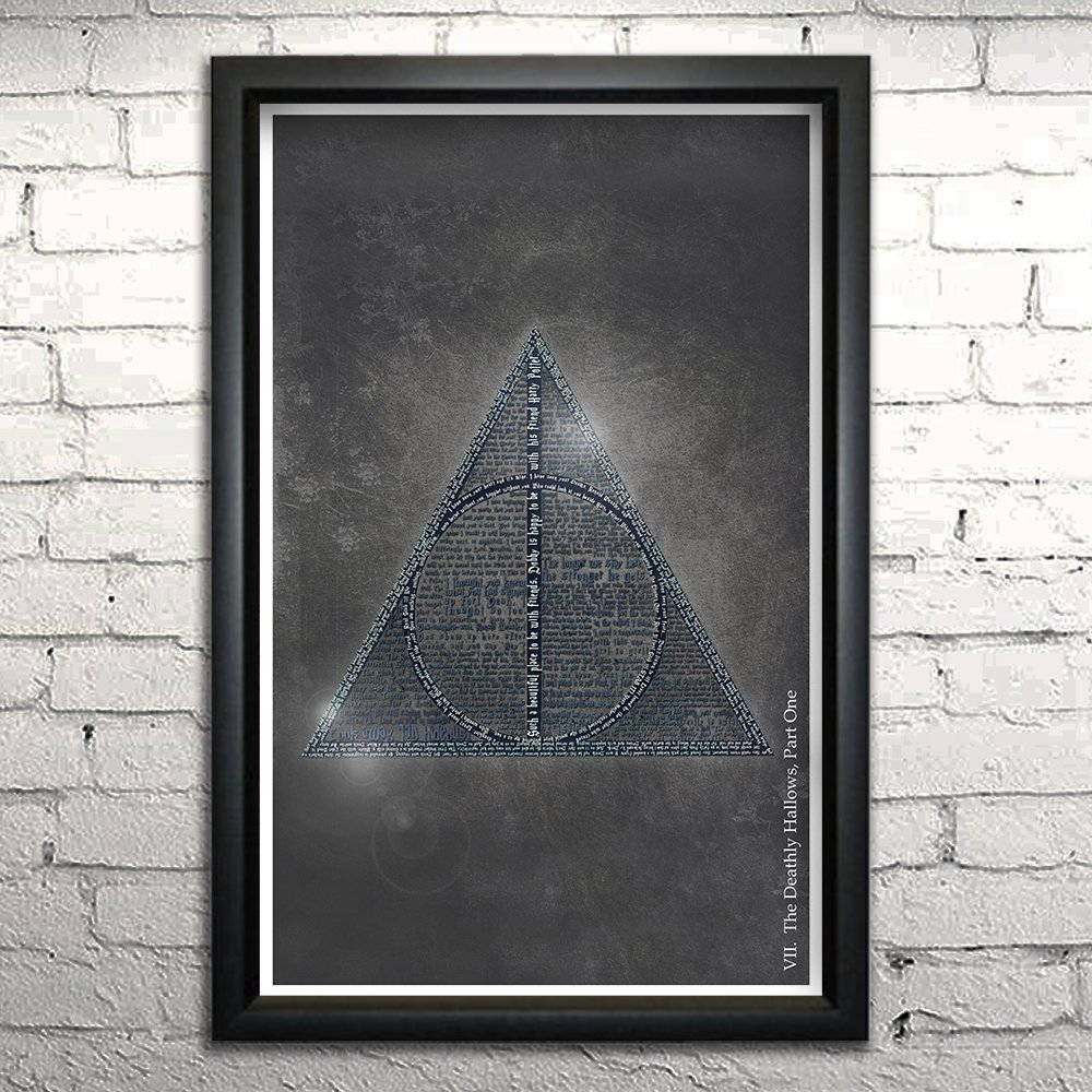 Amazon Harry Potter And The Deathly Hallows Part 1 Word Art