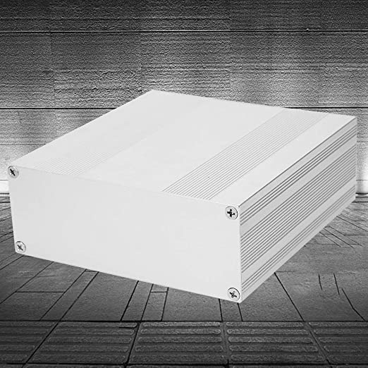Caja de proyecto de aluminio Caja de empalmes de plata mate Caja de placa de PCB DIY Tipo dividido Caja de caja electr/ónica 80x160x180 mm