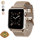 Apple Watch Band, LWCUS New Milanese Loop Iwatch Band With Classic Buckle, Gorgeous Apple Watch Accessories for Apple Watch Series3 Series2 Series1, Hermes, Edition, Sport (38MM - Champagne Gold)