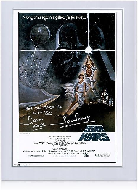 Darth Vader de Star Wars Firmado cartel con