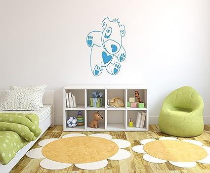 Decorazioni Pareti Orsetti : Orsetto con cuore adesivo murale autoadesivi della parete