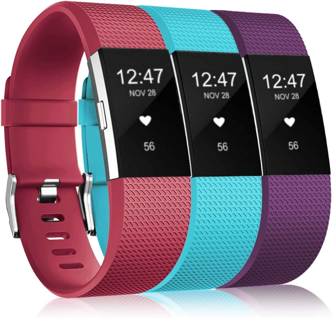 Mallas De Reloj Fitbit Charge 2 (3 Unidades) (Talle L)