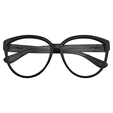 9d7433587d079 Emblem Eyewear Womens Oversize Retro Nerd Clear Lens Fashion Cat Eye Geek  Glasses