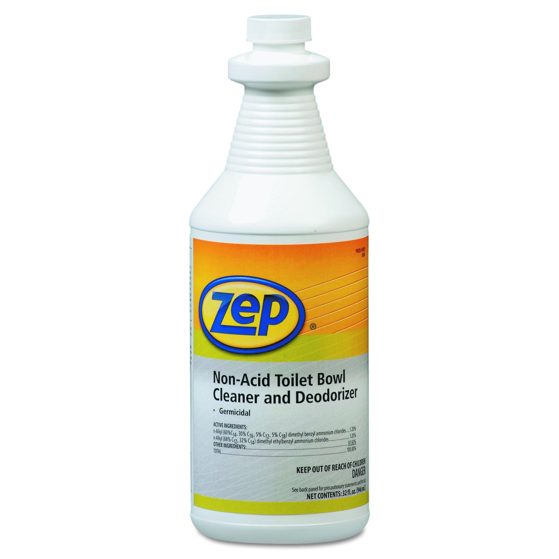 Zep Professional 1041410 Toilet Bowl Cleaner, Non-Acid, qt, Bottle (Pack of 12)