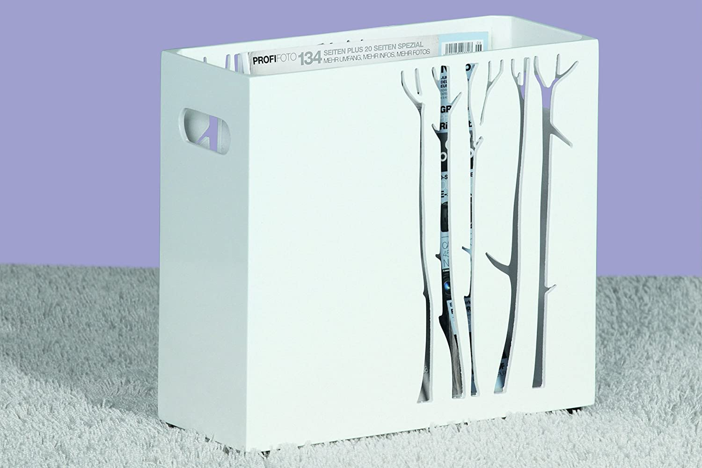 Haku-Möbel 51333 Zeitungsständer 34 x 14 x 31 cm, weiß