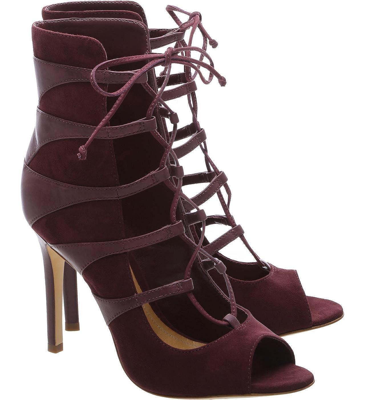 0890993ef6c Amazon.com: SCHUTZ Women's Kardita Cabernet Burgundy Suede Lace up ...