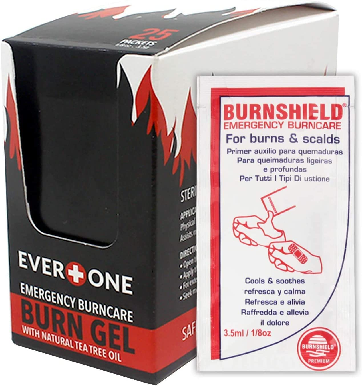 EverOne Emergency Burncare Burn Gel, 3.5g Packets, 25 Count: Health & Personal Care