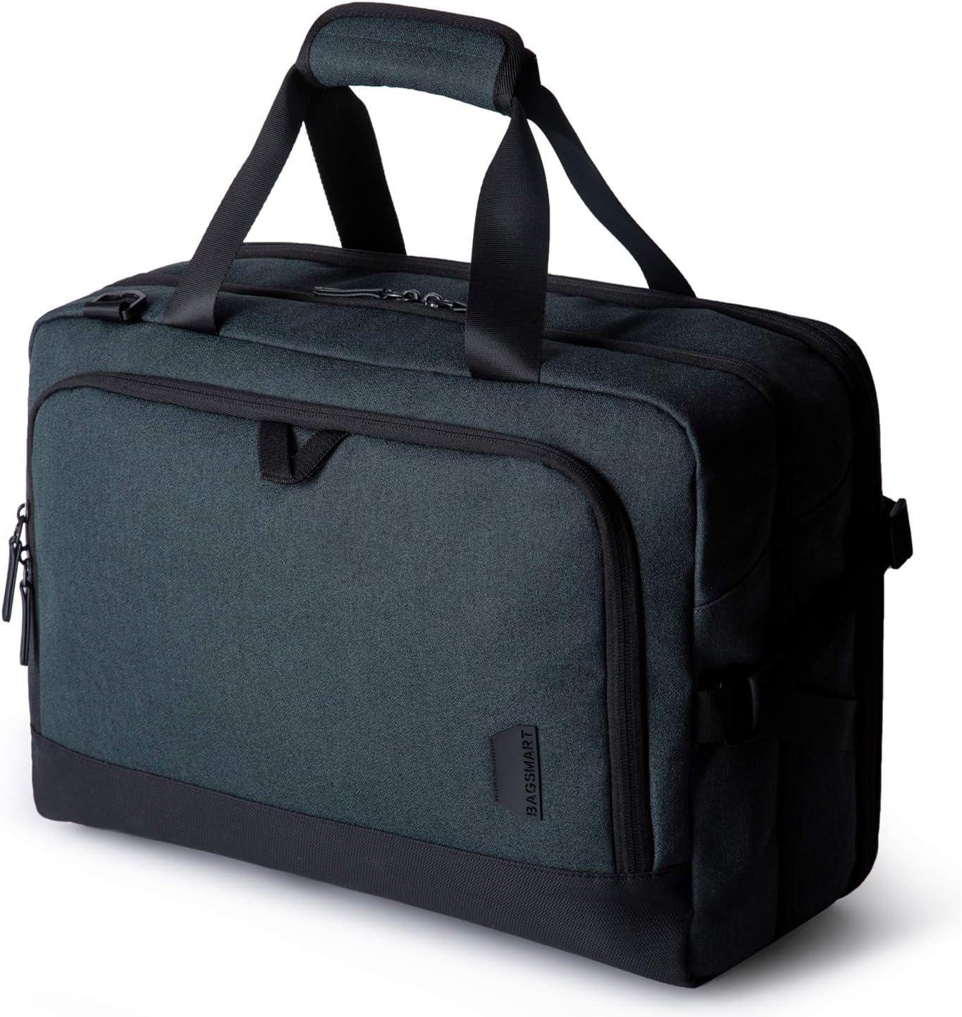Weekender Bag, BAGSMART Travel Duffle Bag Expandable Overnight Bag Anti-Theft Carry-on Bag with Shoe Bag