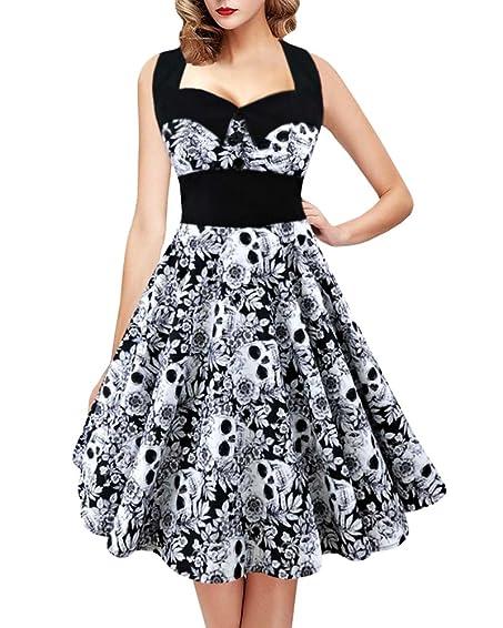 Skull cocktail dress