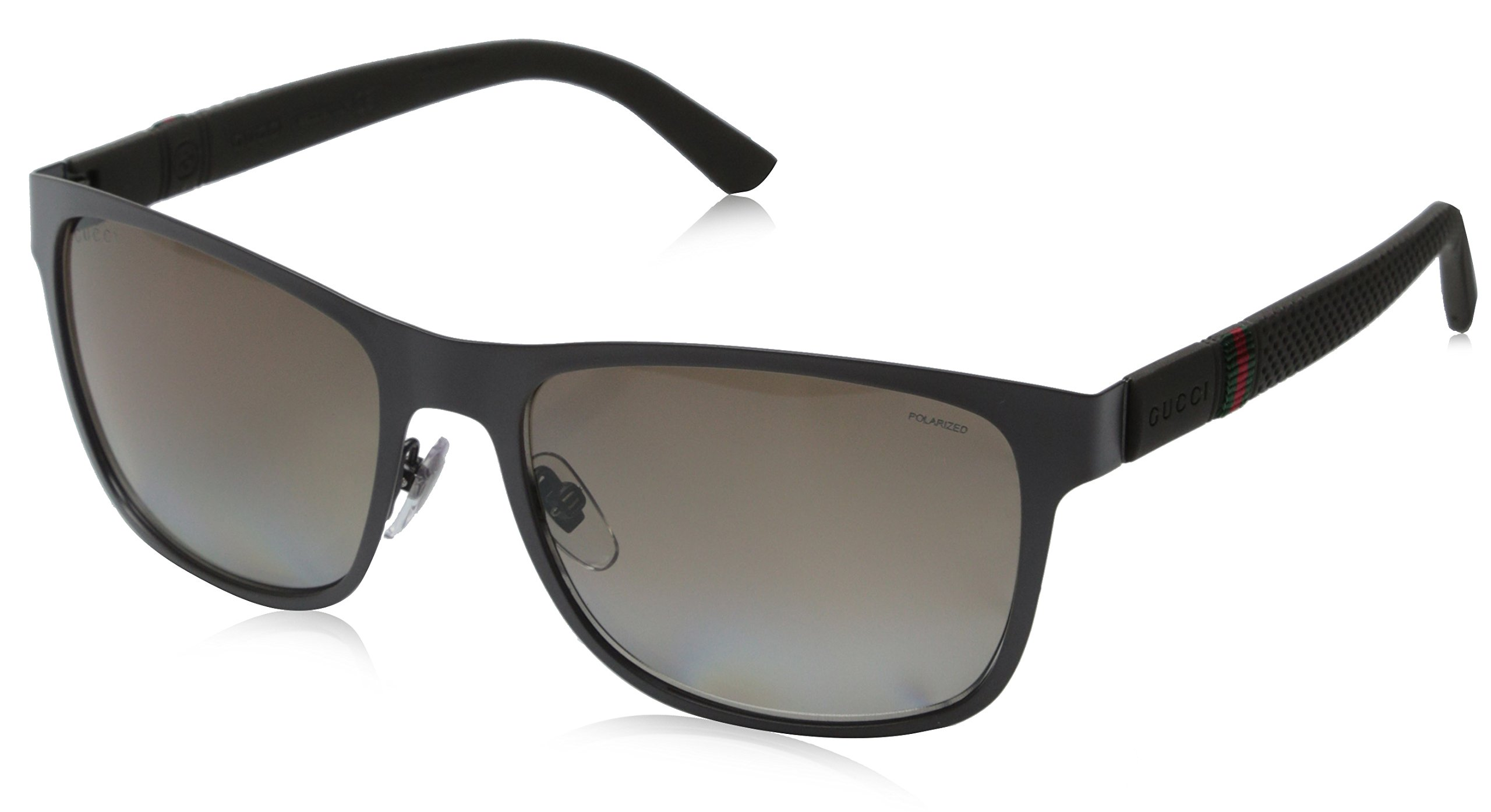 Gucci Men's GG 2247/S Matte Grey/Brown Polarized by Gucci (Image #1)