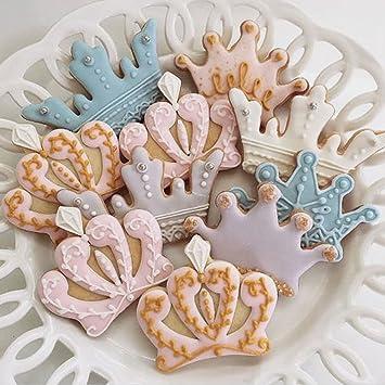 Juego de coronas para galletas, corona de princesa, corona de princesa y corona de princesa, 4 piezas, acero inoxidable por Amison: Amazon.es: Hogar