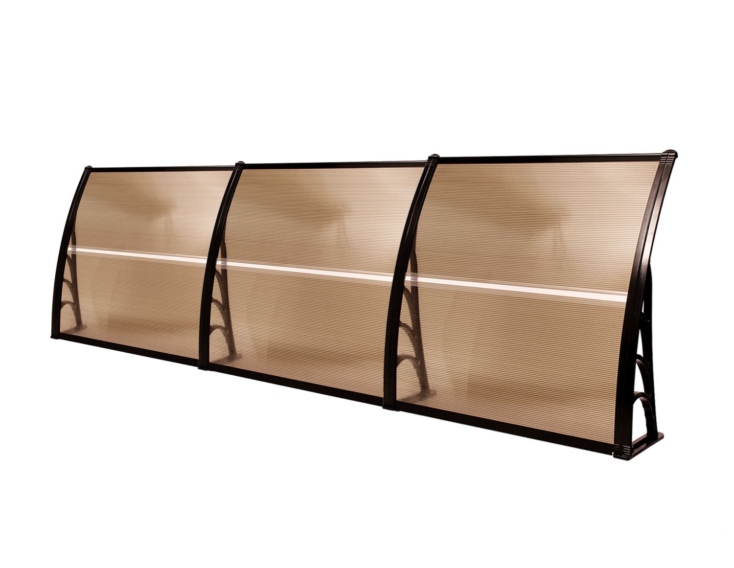 MCombo 40''×120'' Window Awning Outdoor Polycarbonate Front Door Patio Cover Garden Canopy 6055-4012 (Dark Brown) by MCombo