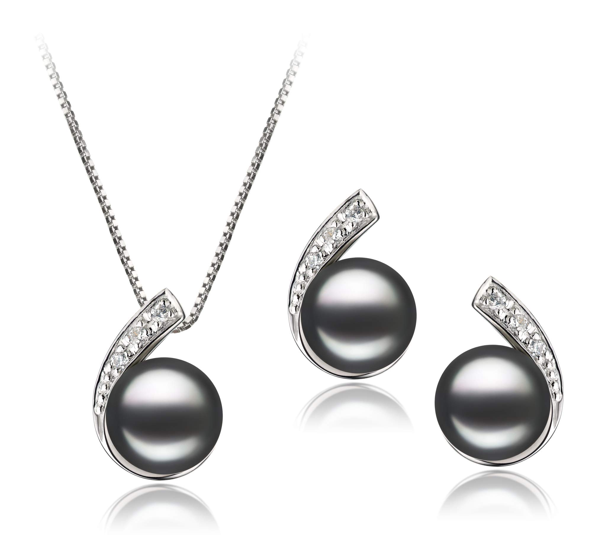 Claudia Black 7-8mm AA Quality Freshwater 925 Sterling Silver Cultured Pearl Set For Women