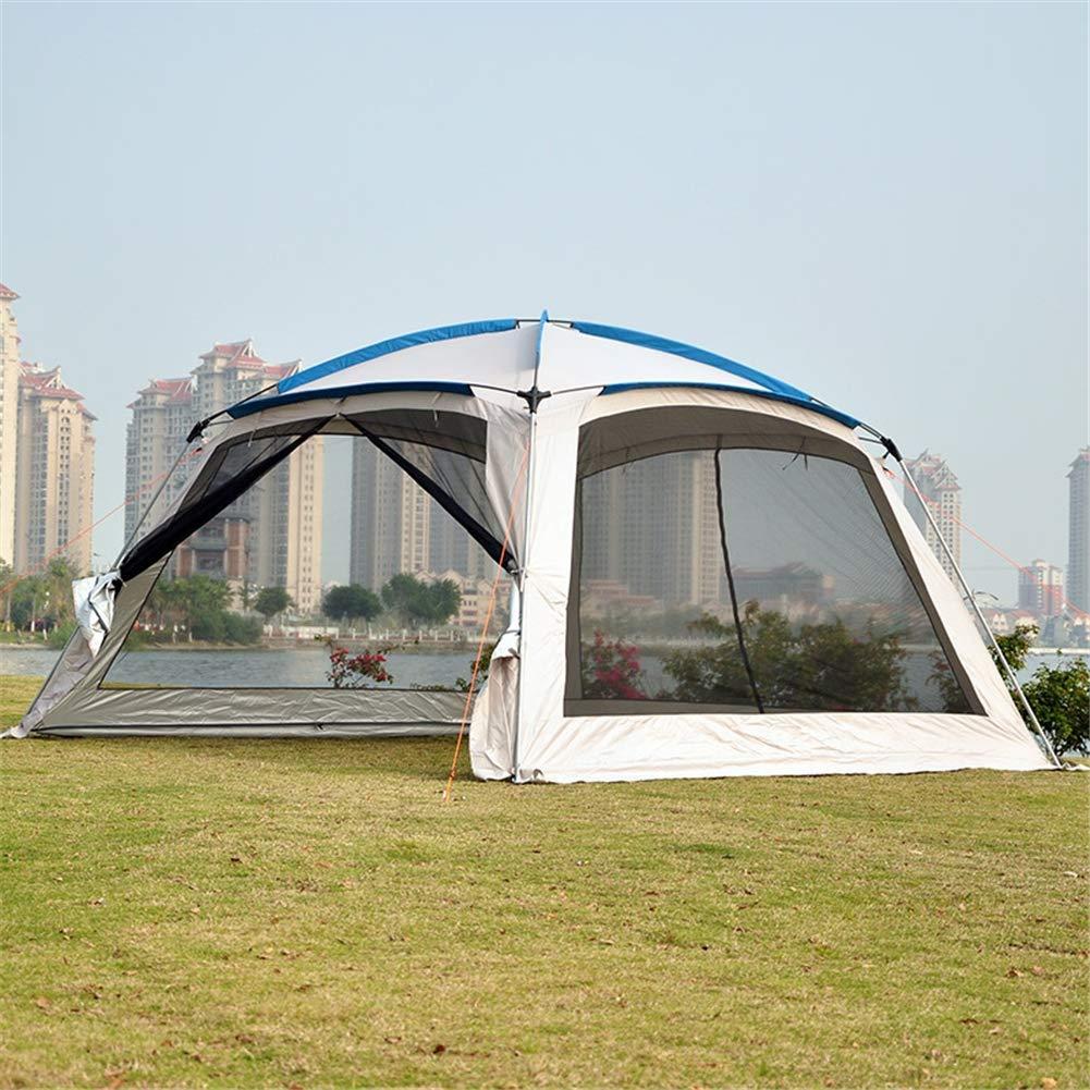 テント、3-8 人 UV 保護ガゼボテント大型ビーチテント防水キャンプテントビーチ傘日除けバーベキューサンシェルター屋外太陽キャノピー 360x360x220cm 1 B07KX17VXH