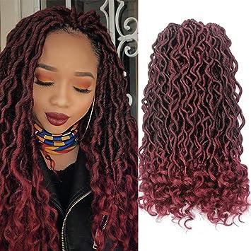 Amazoncom Goddess Locs Crochet Hair Wavy Faux Locs Crochet Braids