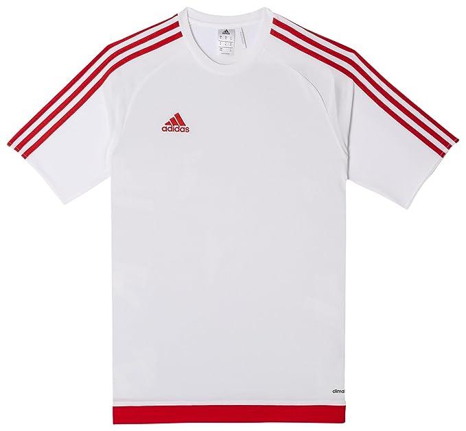 186313bf4 Amazon.com : adidas Performance Men's Estro Jersey (S, White/Red ...