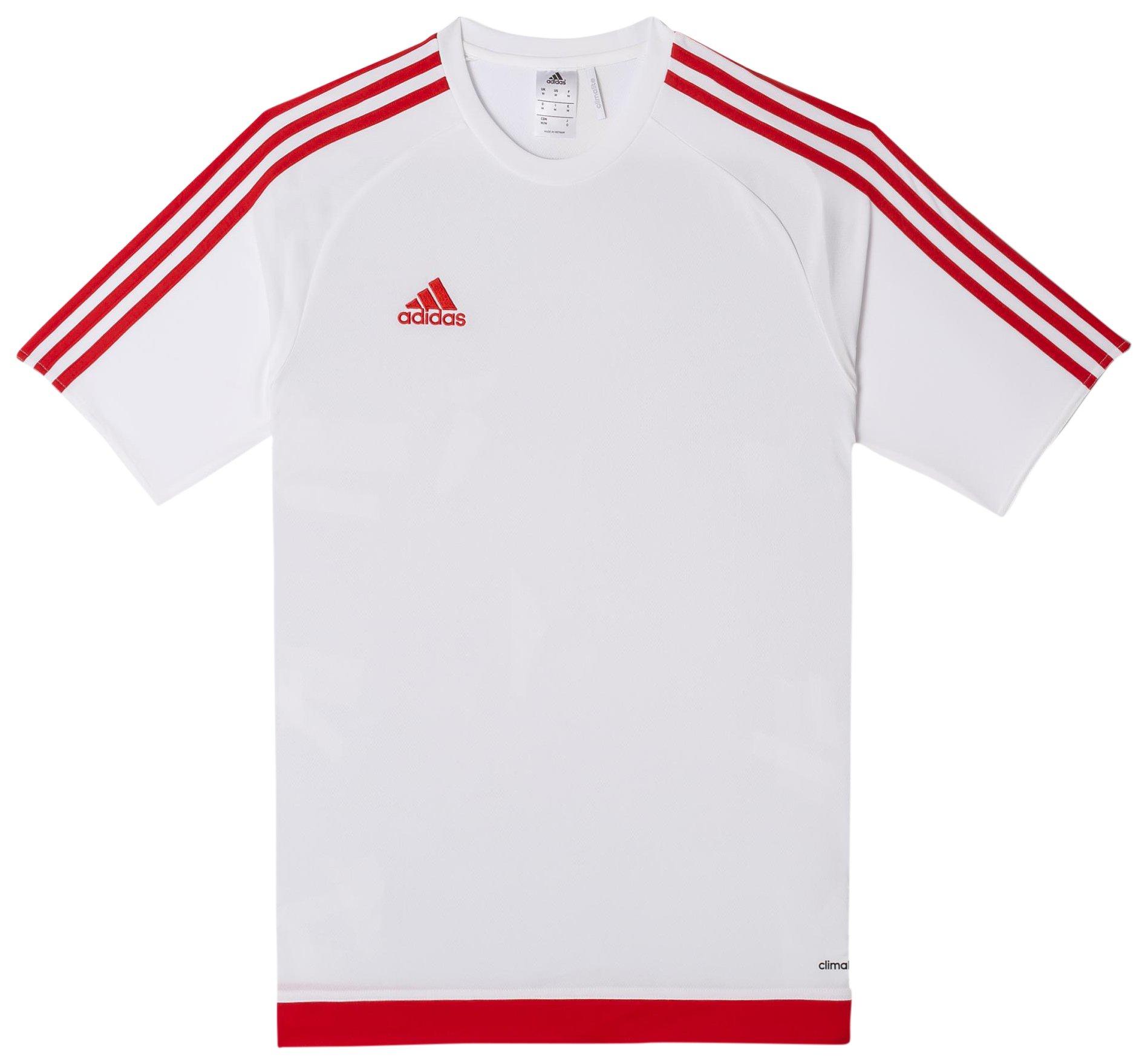 adidas Estro 15 JSY - Camiseta para hombre, color blanco/rojo, talla S