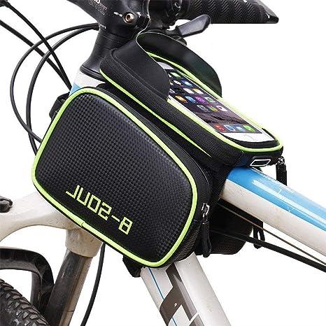 Bolsa de Ciclismo Bicicleta Techo Tubo Bolsa Impermeable para Montar Cartas Reflectantes Noche Seguro Viaje Mochila de Bicicleta de montaña Impermeable para v (Color : Azul): Amazon.es: Deportes y aire libre