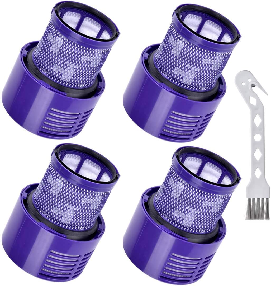 Anicell 4 Pack Filter Replacements for Dyson Vacuum V10 Cyclone Series, V10 Absolute, V10 Animal, V10 Total Clean, SV12,V11 SV14 Torque Drive Animal Absolute Cordless Stick Vacuum Cleaner