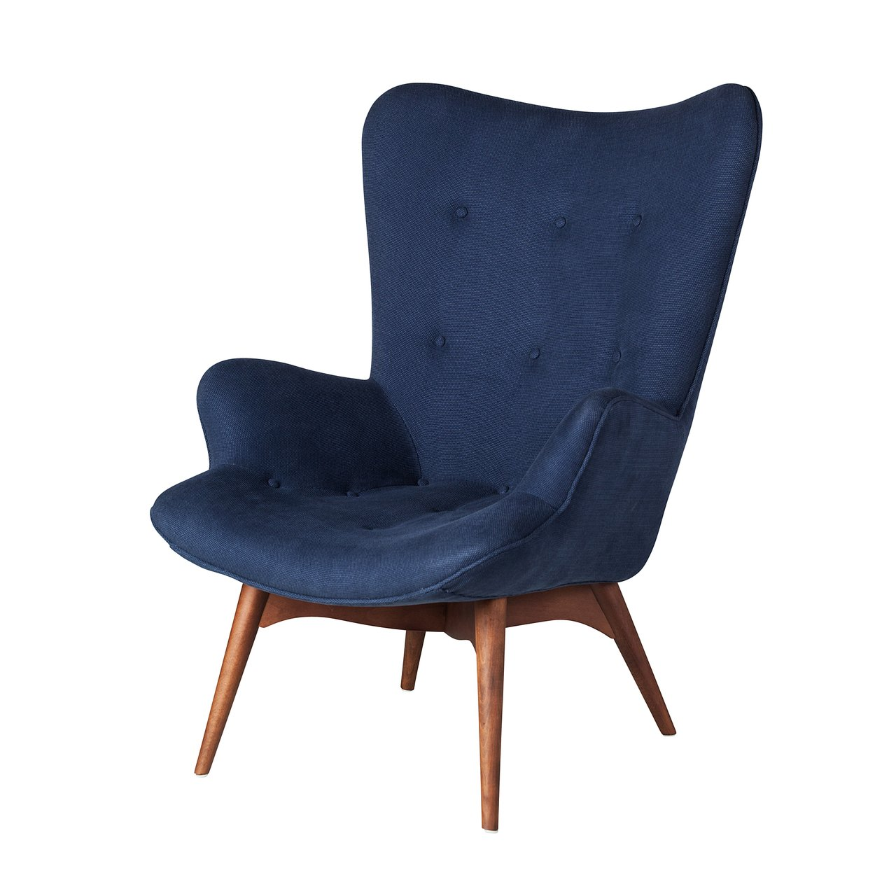 Amazon.com: Featherston silla de contorno de estilo en azul ...