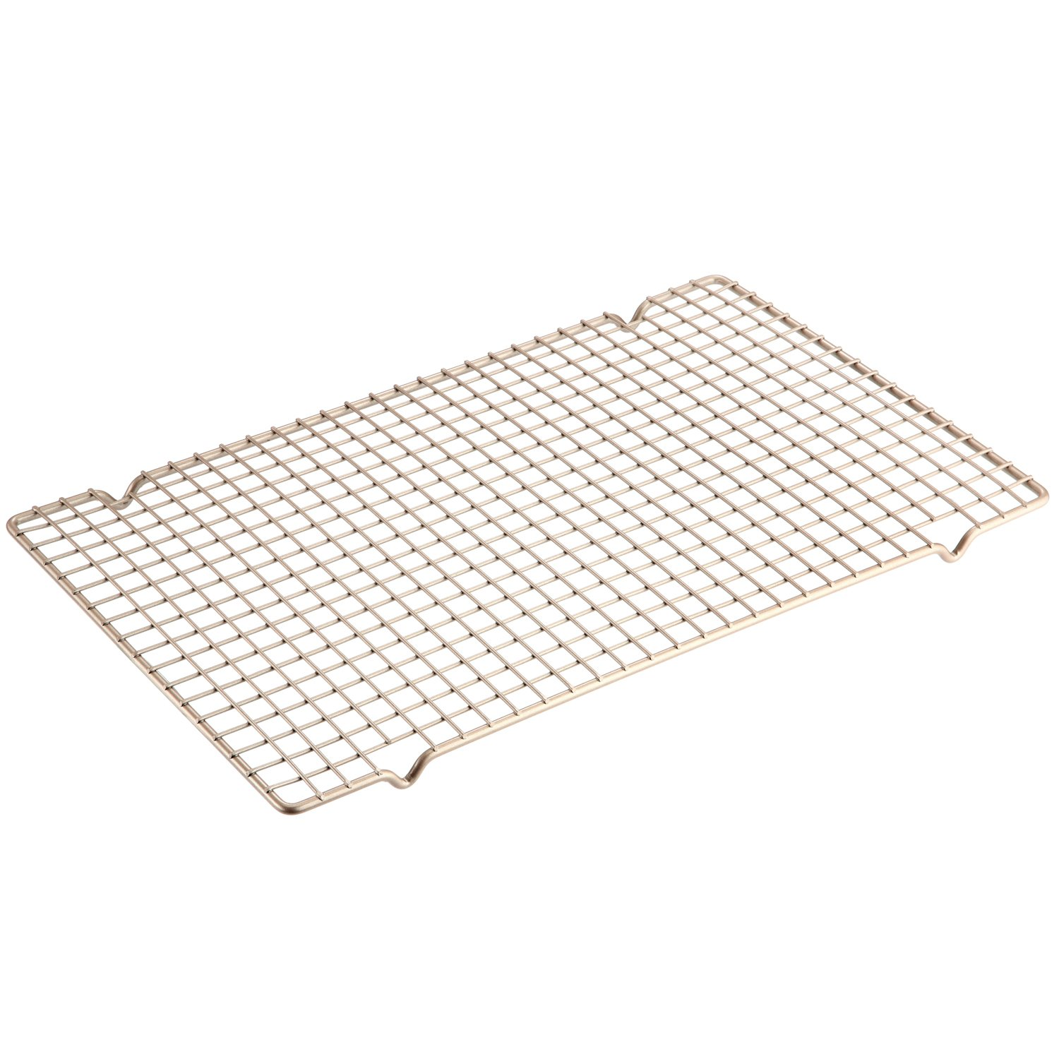 CHEFMADE Baking and Cooling Rack, 16-Inch Non-Stick Bold-Grid Design Wire Rack, FDA Approved for Oven Baking (Champagne Gold)