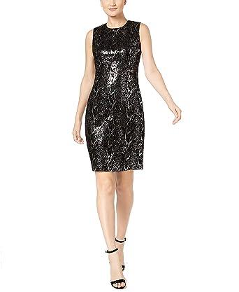 0c25cf3a Calvin Klein Womens Petites Velvet Sequined Cocktail Dress at Amazon ...