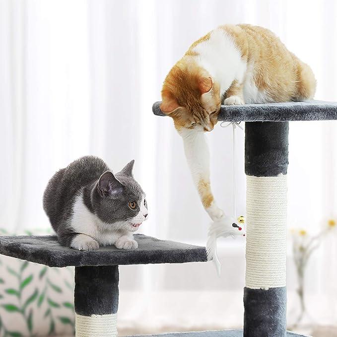 FEANDREA Árbol para Gatos Juguete Rascador Columnas ...