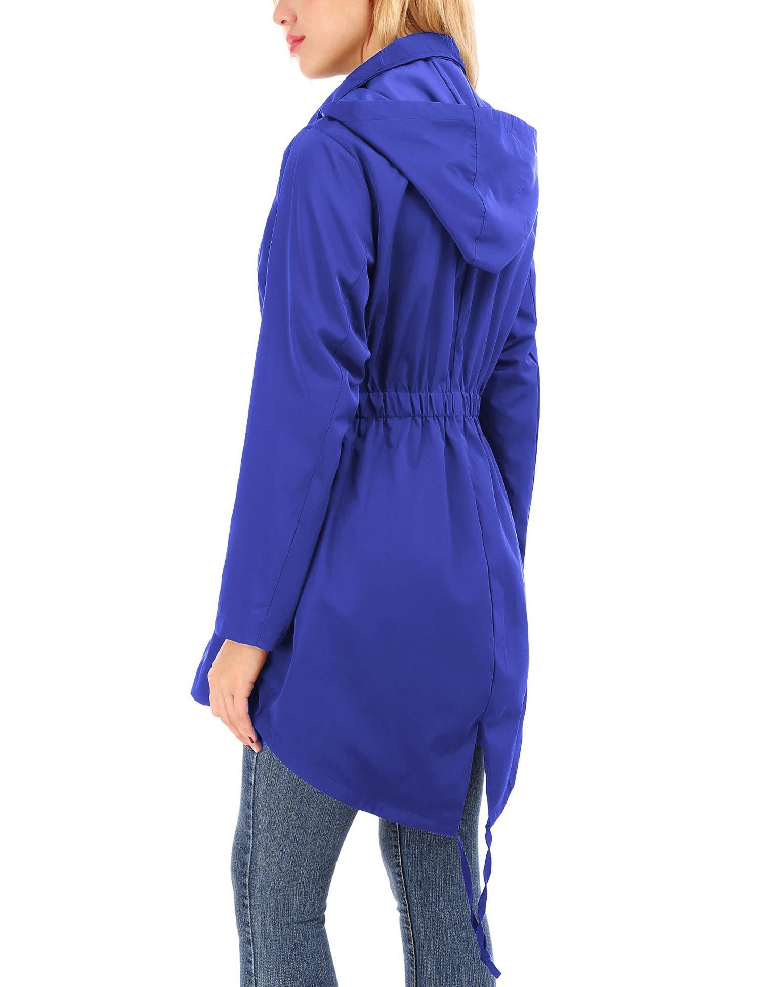 Uniboutique Raincoat Waterproof Outdoor Hooded Lightweight Rain Jacket Windbreaker by Uniboutique (Image #5)