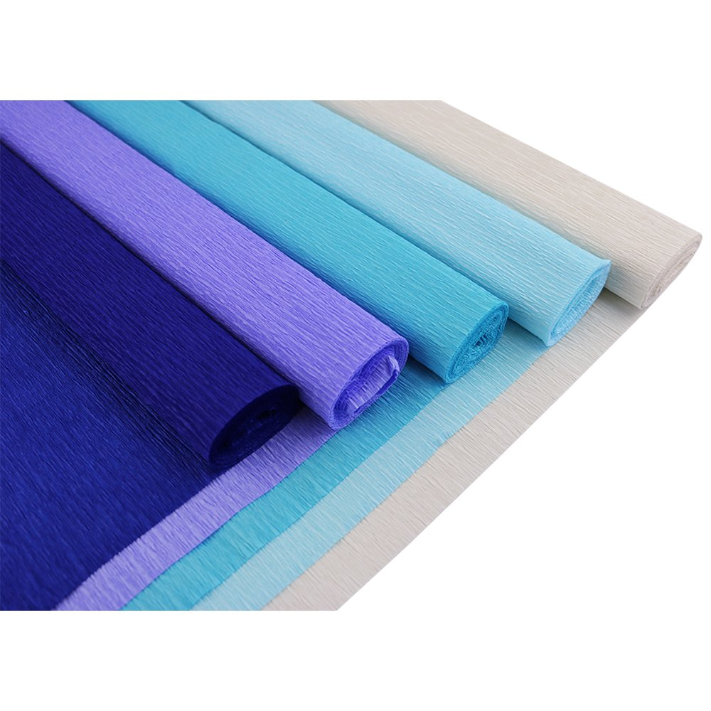 5pcs, Color: Shades of Purple Just Artifacts Premium Crepe Paper Rolls 8ft Length//20in Width