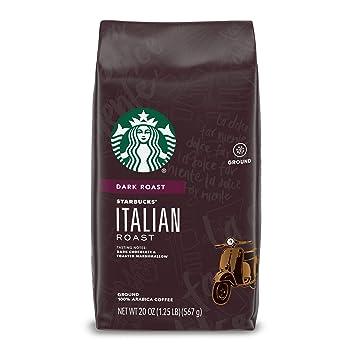 Starbucks Dark Roast Ground Italian Coffee Beans