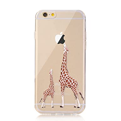 online store ae371 af1ba LUOLNH iPhone 7 Case, [New Creative Design] Flexible Soft TPU Silicone Gel  Soft Clear Phone Case Cover for iPhone 7 4.7 inch,(2 Giraffe)